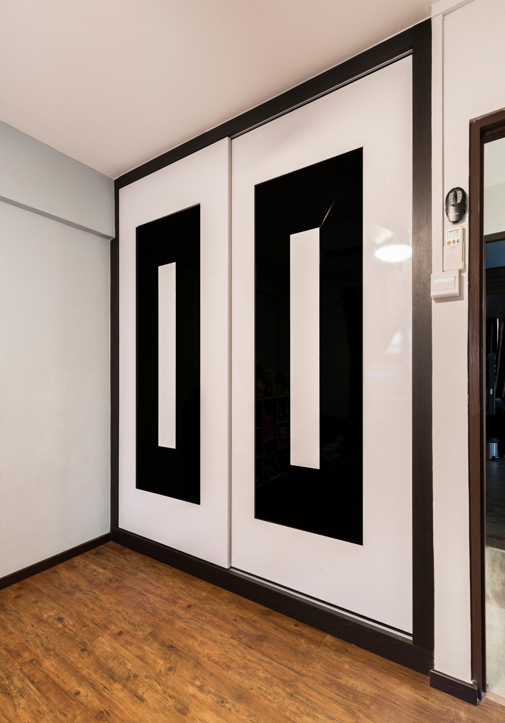 Vintage, HDB, Bedroom, Yishun Street 61 (Block 605), Interior Designer, Project Guru, Alphabet, Text