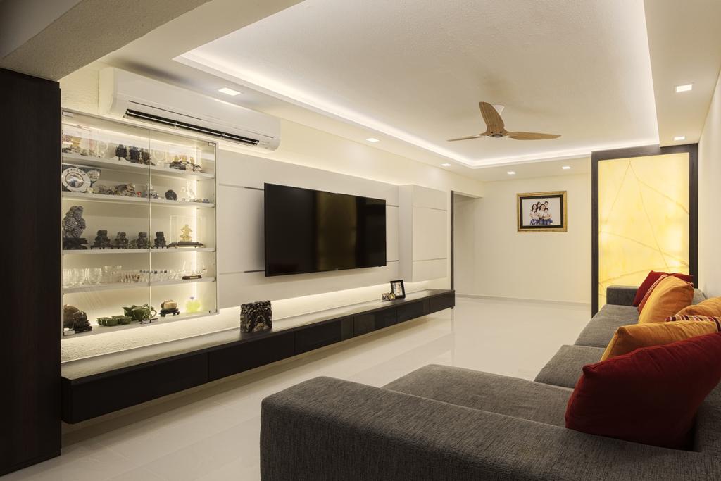 Modern, HDB, Living Room, Bukit Batok East Ave 3 (Block 223), Interior Designer, Zenith Arc, Minimalistic, Couch, Furniture, Indoors, Interior Design