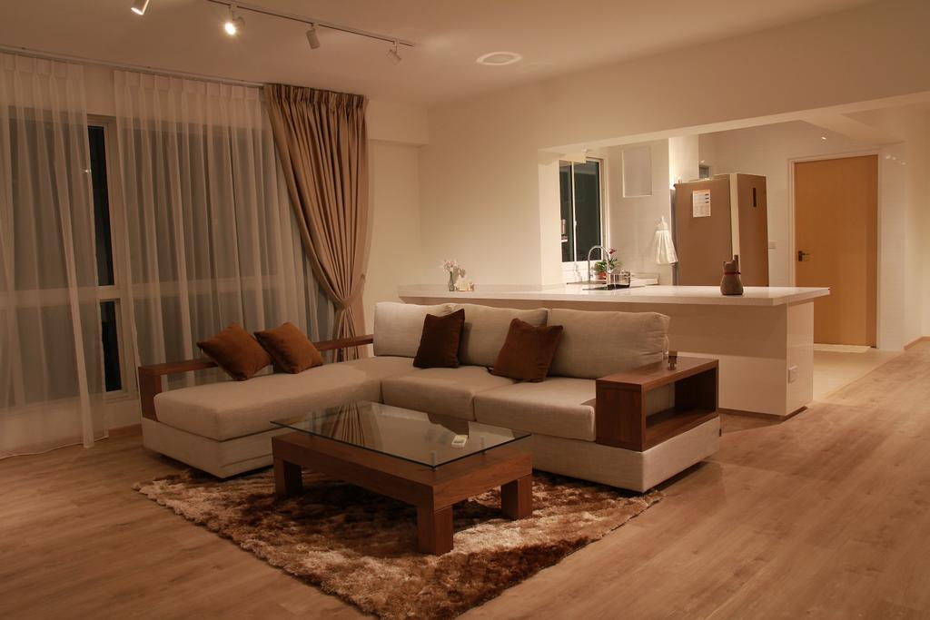 Modern, HDB, Living Room, Punggol Sapphire, Interior Designer, VVID Elements, Couch, Furniture, Indoors, Room
