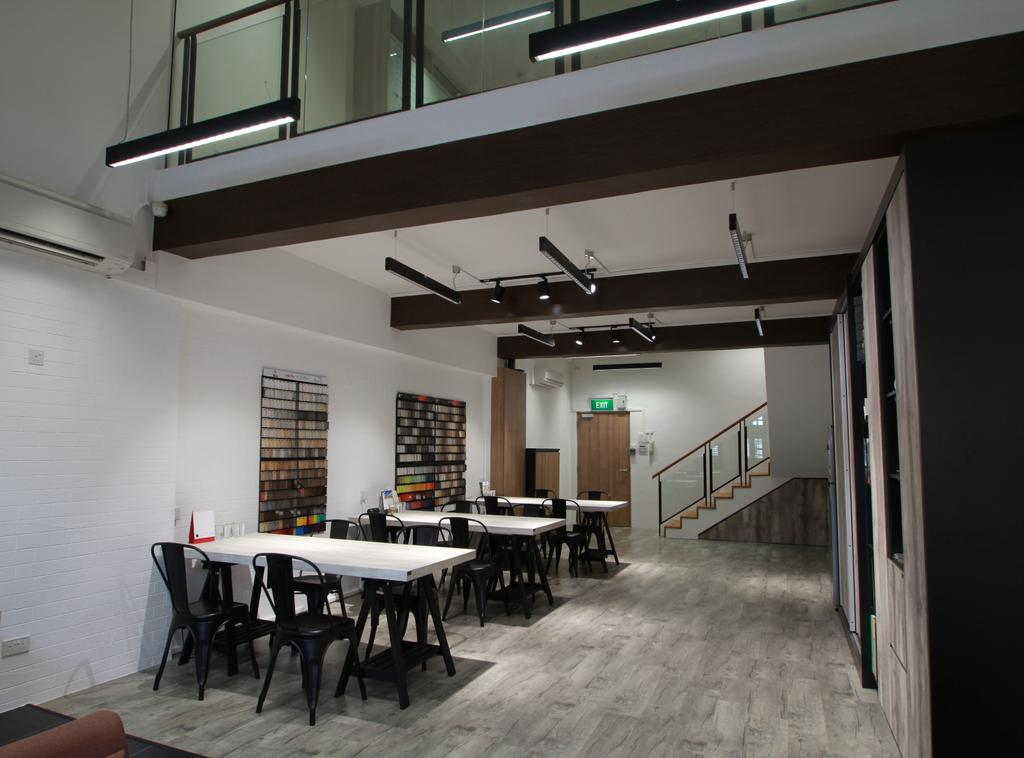 VVID Elements Showroom, Commercial, Interior Designer, VVID Elements, Scandinavian, Dining Table, Furniture, Table, Chair, HDB, Building, Housing, Indoors, Loft, Dining Room, Interior Design, Room