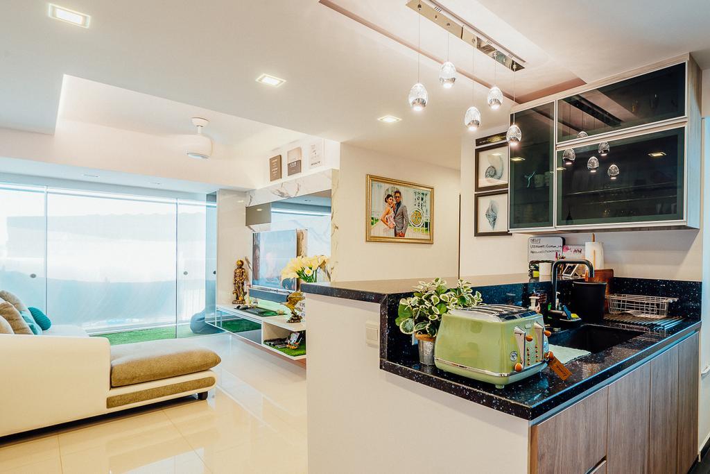 Modern, HDB, Living Room, Tampines Central 8 (Block 519C), Interior Designer, DL Abode Design Solutions