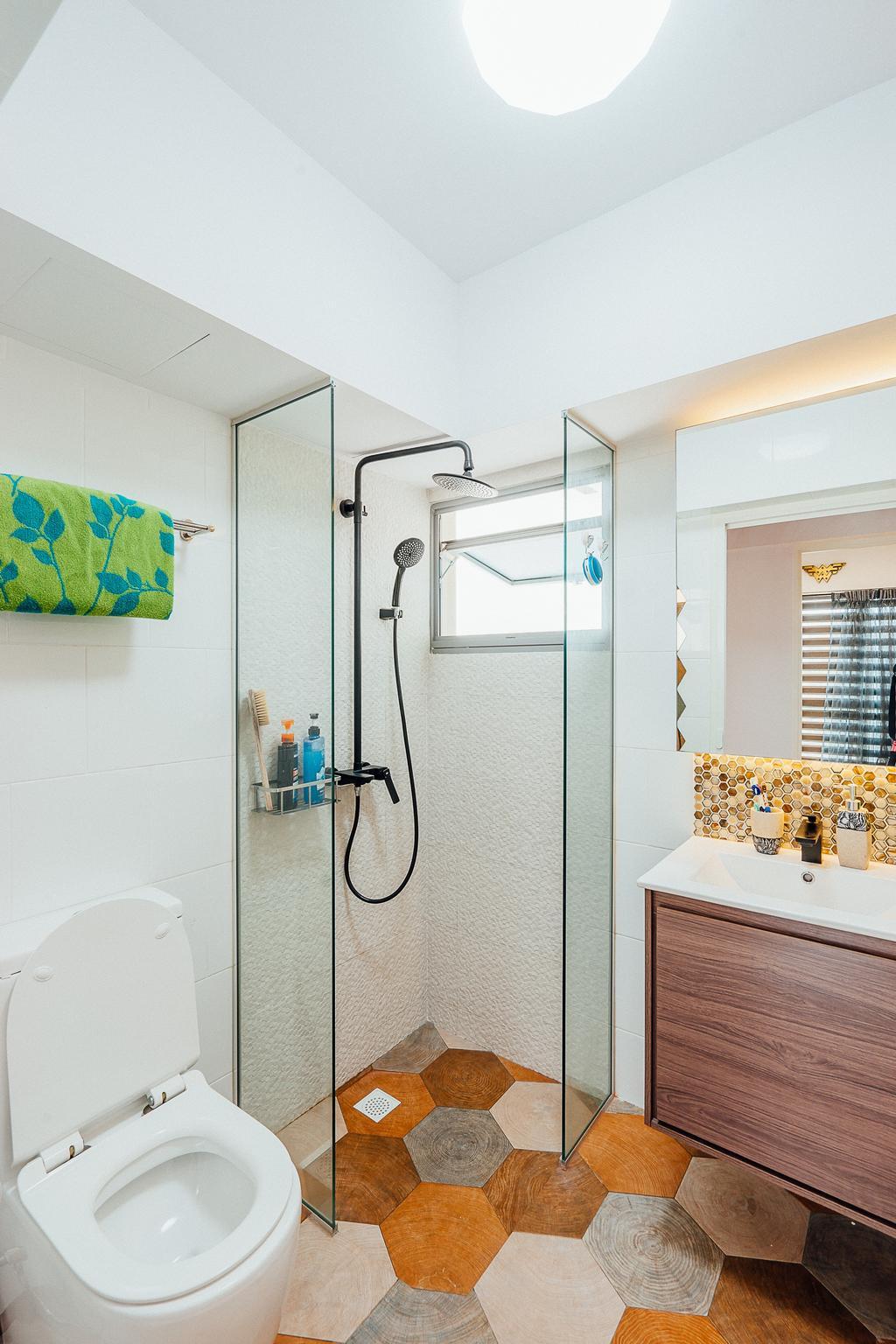 Modern, HDB, Bathroom, Tampines Central 8 (Block 519C), Interior Designer, DL Abode Design Solutions
