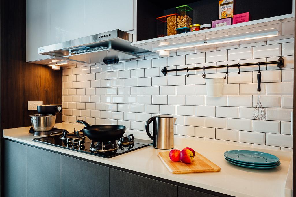 Industrial, HDB, Kitchen, Compassvale Crescent, Interior Designer, Ace Space Design, Appliance, Electrical Device, Oven