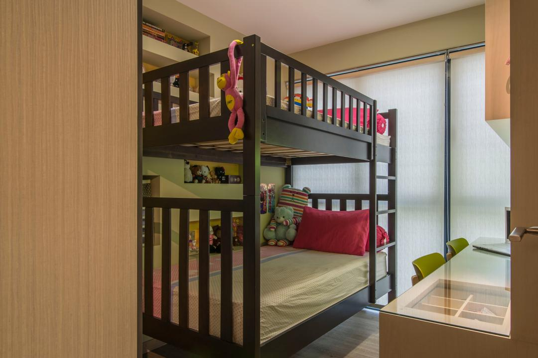 RiverParc Residence (Punggol), Arc Square, Contemporary, Bedroom, Condo, Bunk Bed, Double Deckers, Kids Room, Children, Kids