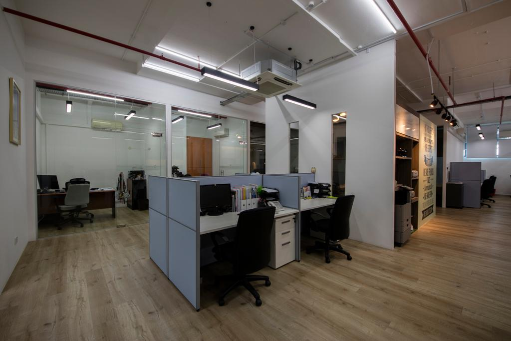 Can Traders & Services Office, Commercial, Interior Designer, Starry Homestead, Modern, Flooring, Lighting, HDB, Building, Housing, Indoors, Loft