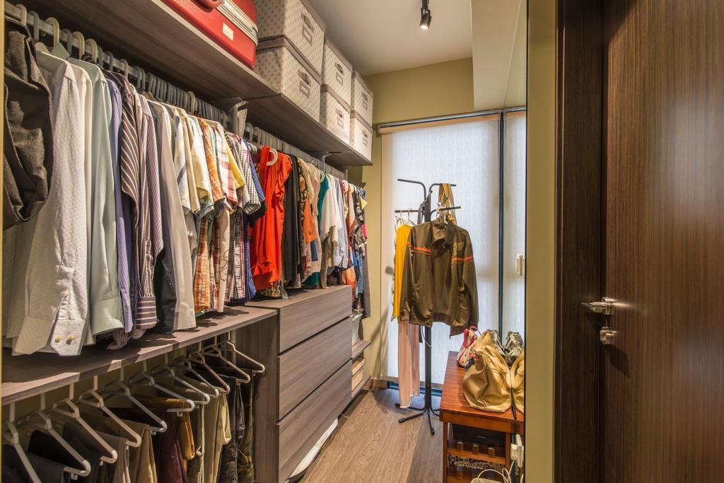 Contemporary, Condo, Bedroom, RiverParc Residence (Punggol), Interior Designer, Arc Square, Walk In Wardrobe