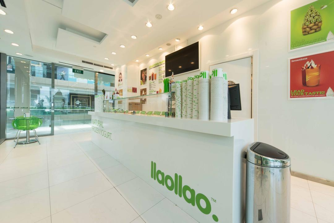 Llao Llao (Westgate), Unity ID, Minimalistic, Commercial, Shop Interior, Shop Counter, Counter, Floor Tiles, Recessed Lighting, White, All White