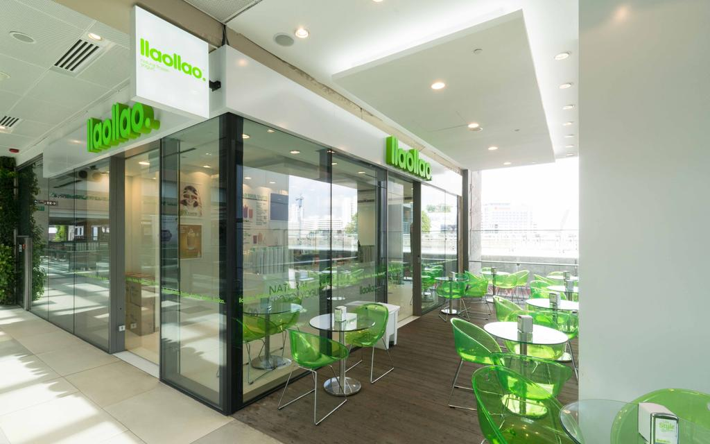 Llao Llao (Westgate), Commercial, Interior Designer, Unity ID, Minimalistic, Shop Exterior, Shop Entrance, Glass Doors, Outdoor Dining, Dining Tables, Dining Chairs