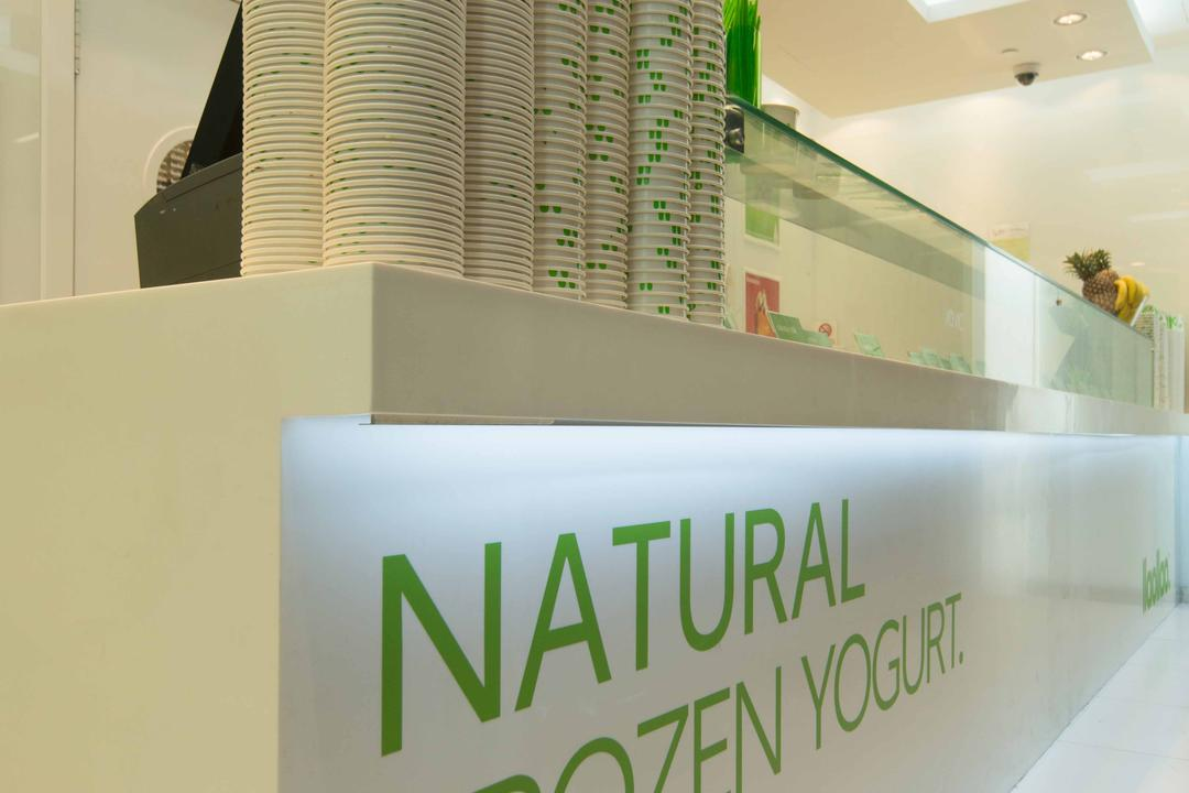 Llao Llao (Wisma Atria), Unity ID, Minimalistic, Commercial, Counter, Shop Counter, Concealed Lighting, White, All White