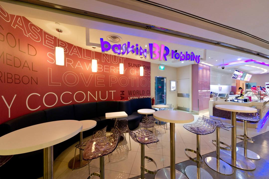 Baskin Robbins (Novena Square), Unity ID, Contemporary, Commercial, Shop Entrance, Shop Exterior, White, Dining Tables, Dining Chairs
