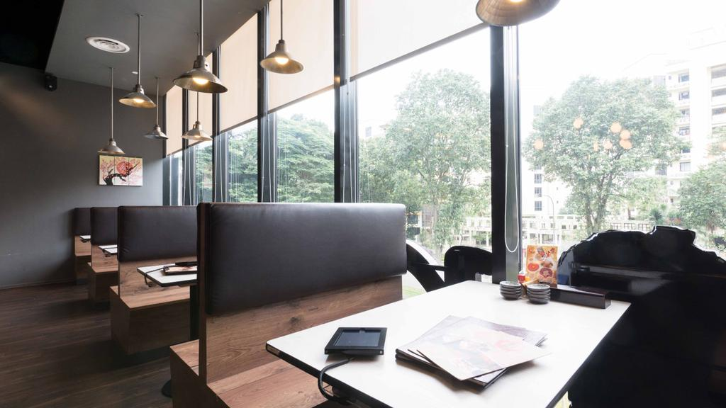 Kinsa Sushi (HillV2), Commercial, Interior Designer, Unity ID, Traditional, Roller Blinds, Japanese, F B, Pendant Lamps, Hanging Lamps