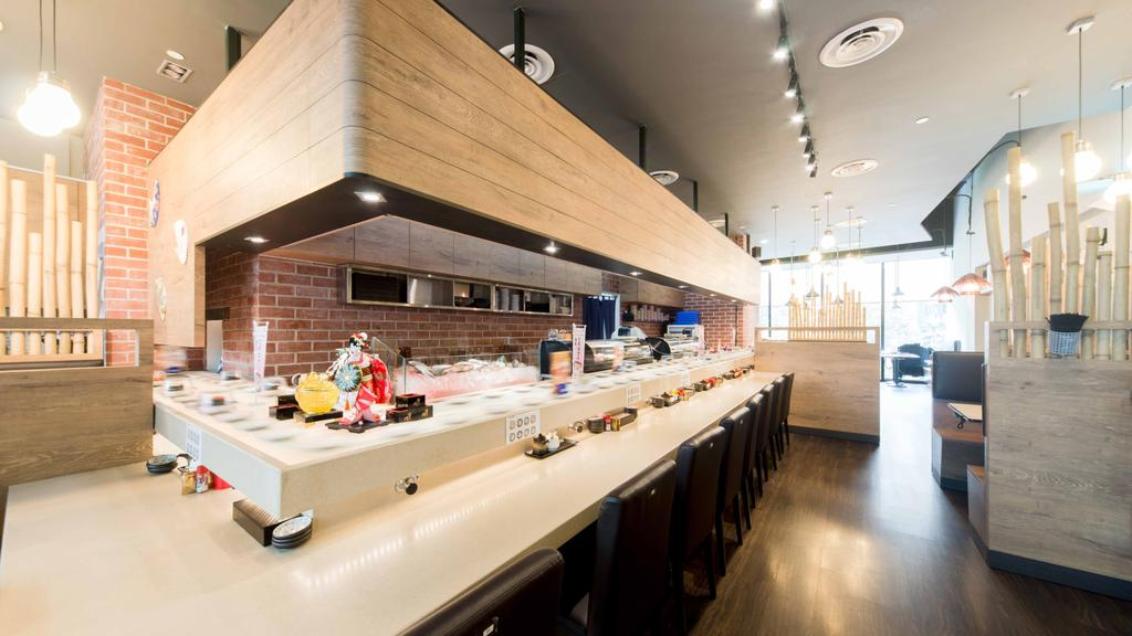 Kinsa Sushi (HillV2), Commercial, Interior Designer, Unity ID, Traditional, Shop Interior, Japanese, F B, Brown, Wood, Neutral Colours, Wooden Partition, Sushi Counter