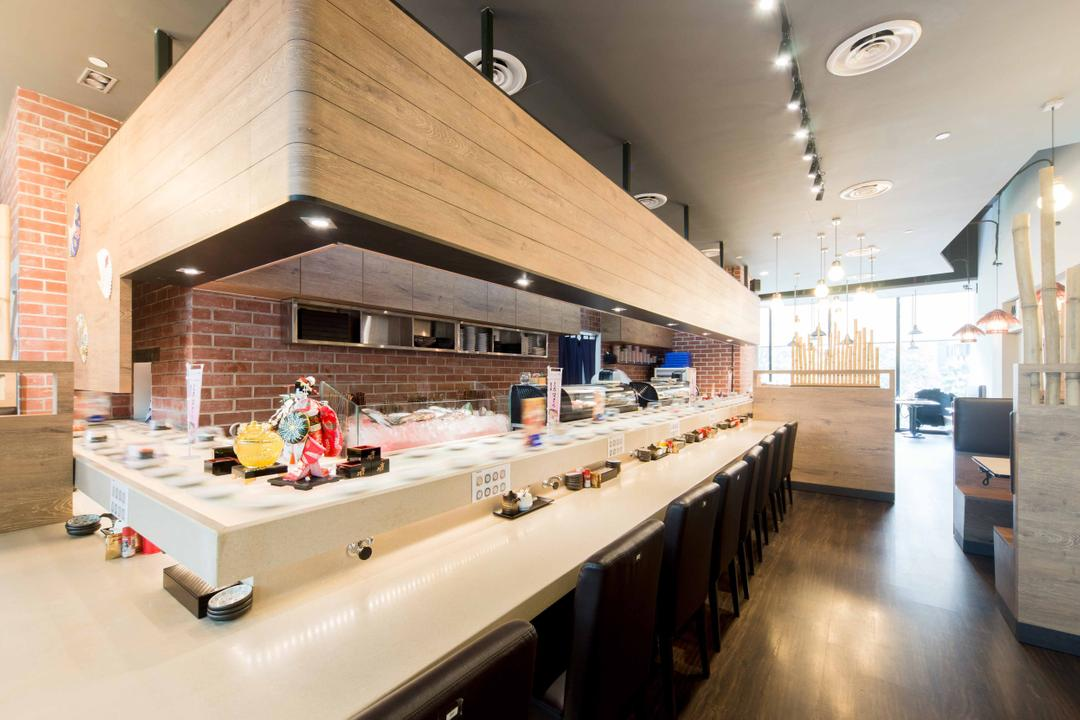 Kinsa Sushi (HillV2), Unity ID, Traditional, Commercial, Shop Interior, Japanese, F B, Brown, Wood, Neutral Colours, Wooden Partition, Sushi Counter