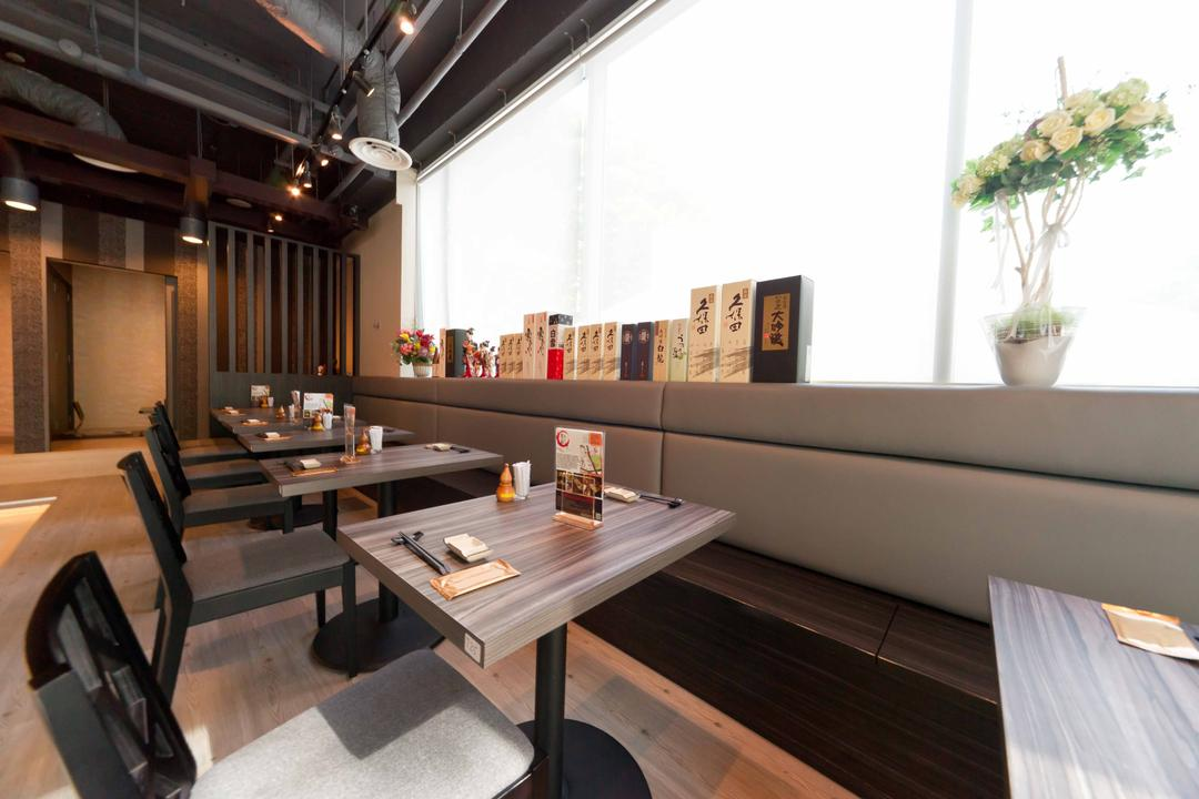 Kinsa Sushi (Ang Mo Kio), Unity ID, Traditional, Commercial, Dining Table, Dining Chairs, Japanese, F B, Shop Interior, Track Lighting