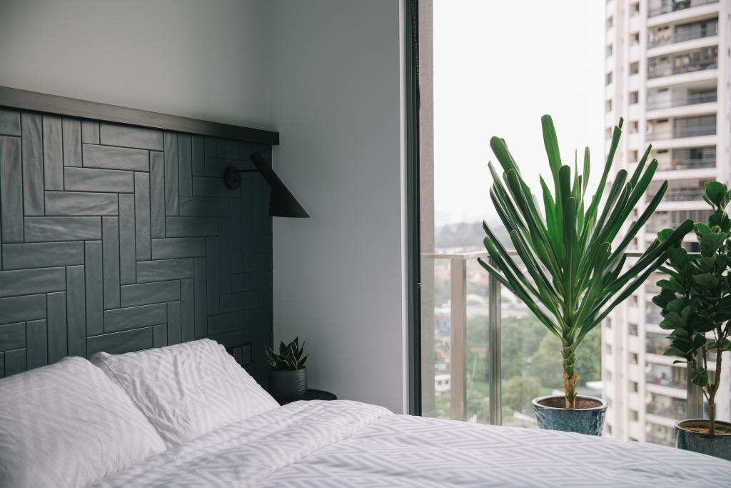 Contemporary, Condo, Bedroom, Thomson Three, Interior Designer, Habit, Arecaceae, Flora, Palm Tree, Plant, Tree, Indoors, Interior Design, Room