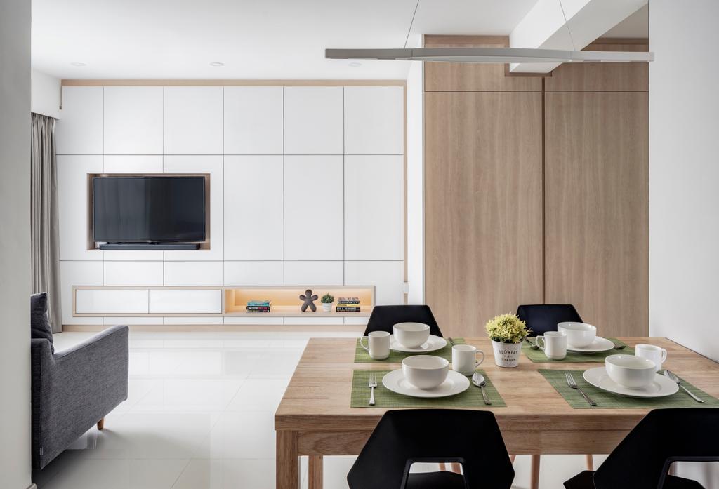 Minimalistic, HDB, Living Room, Clementi Avenue 4, Interior Designer, Posh Home, Coffee Table, Furniture, Table, Dining Table, Dining Room, Indoors, Interior Design, Room, Sink