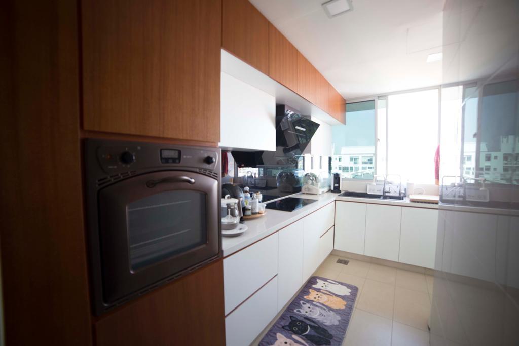Modern, Condo, Kitchen, Fruition, Interior Designer, MET Interior, Scandinavian, Indoors, Interior Design, Room, Appliance, Electrical Device, Oven