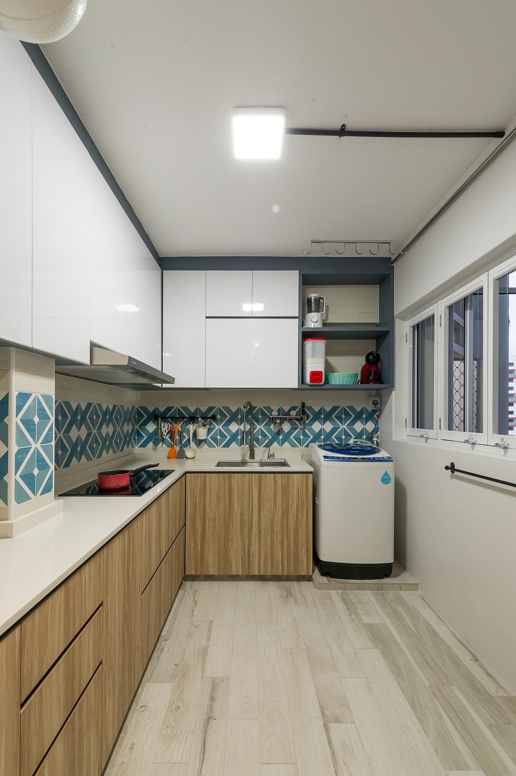 Scandinavian, HDB, Kitchen, Hougang Street 92, Interior Designer, ELPIS Interior Design, Industrial, Indoors, Interior Design, Room