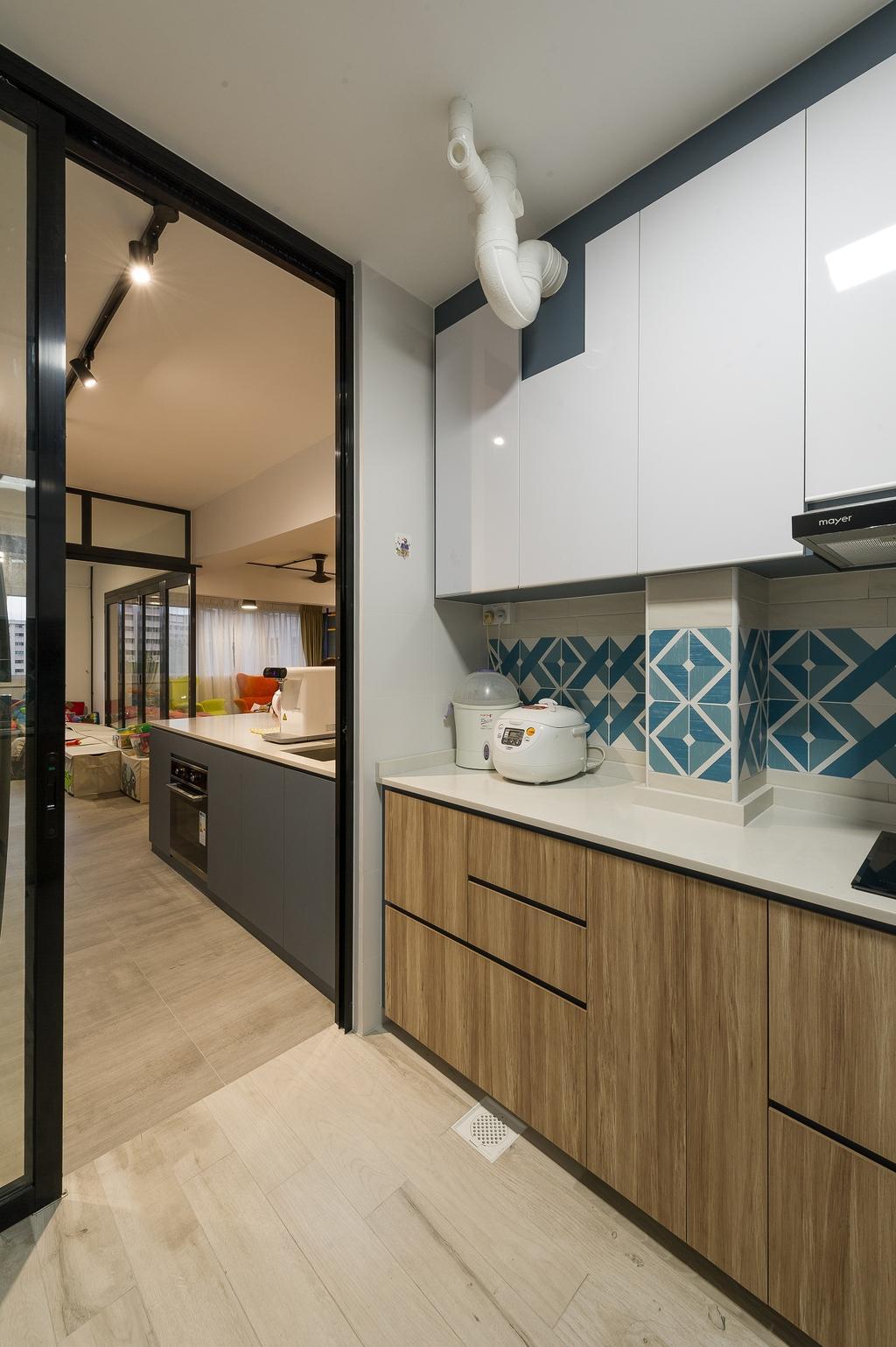 Scandinavian, HDB, Kitchen, Hougang Street 92, Interior Designer, ELPIS Interior Design, Industrial, Indoors, Interior Design, Room, Building, Housing