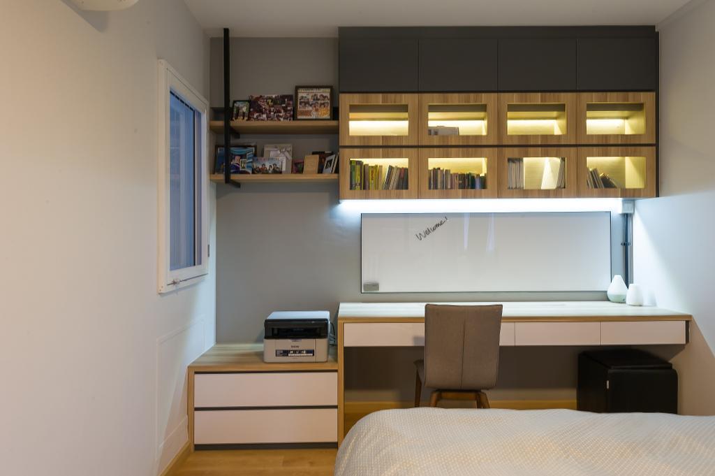 Scandinavian, HDB, Study, Hougang Street 92, Interior Designer, ELPIS Interior Design, Industrial, White Board, Bedroom, Indoors, Interior Design, Room