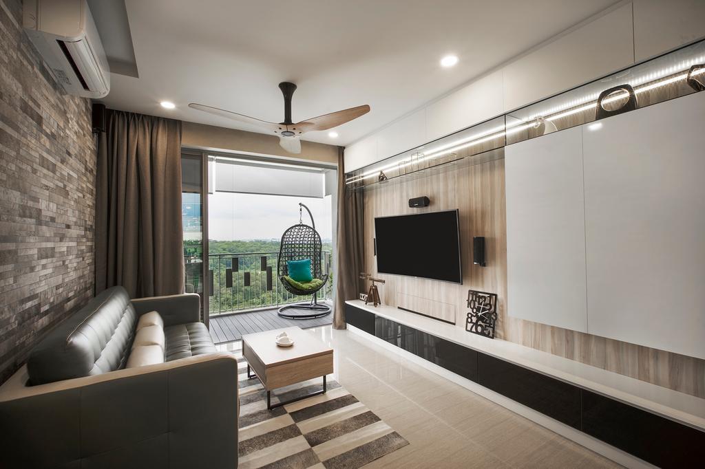 Modern, Condo, Living Room, Punggol Field Walk (Block 11), Interior Designer, Imposed Design