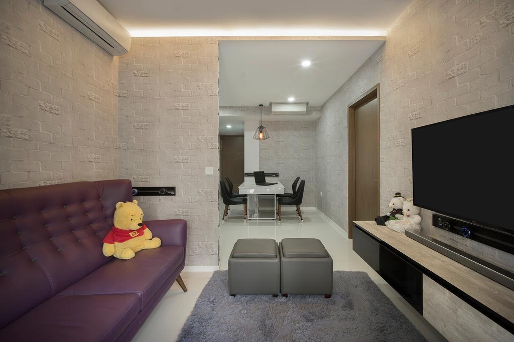 Contemporary, Condo, Living Room, The Topiary (Block 11), Interior Designer, Imposed Design