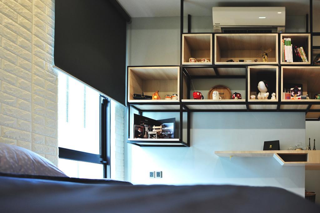 Modern, Landed, Bedroom, Saujana Duta, Seremban 2, Interior Designer, Spazio Design Sdn Bhd, Contemporary, Shelf, Indoors, Interior Design