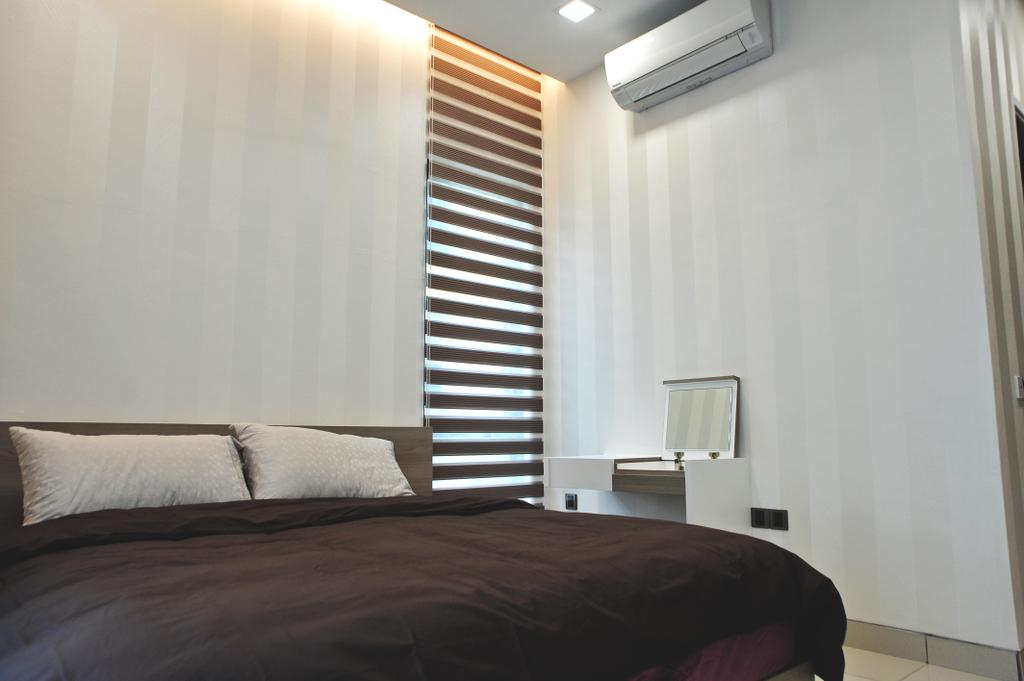 Modern, Landed, Bedroom, Saujana Duta, Seremban 2, Interior Designer, Spazio Design Sdn Bhd, Contemporary, Indoors, Interior Design, Room, Bed, Furniture