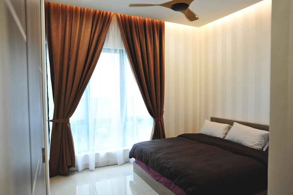 Modern, Landed, Bedroom, Saujana Duta, Seremban 2, Interior Designer, Spazio Design Sdn Bhd, Contemporary, Bed, Furniture, Indoors, Interior Design, Room