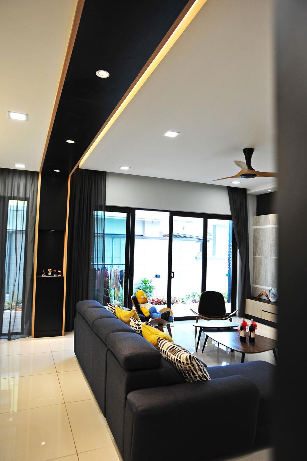 Modern, Landed, Living Room, Saujana Duta, Seremban 2, Interior Designer, Spazio Design Sdn Bhd, Contemporary