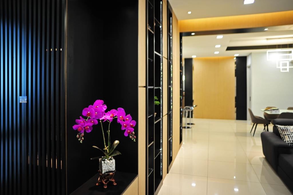 Modern, Landed, Living Room, Saujana Duta, Seremban 2, Interior Designer, Spazio Design Sdn Bhd, Contemporary, Flora, Jar, Plant, Potted Plant, Pottery, Vase