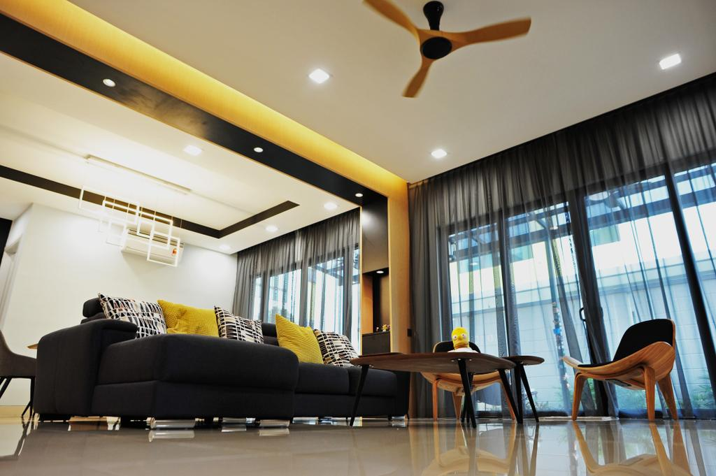 Modern, Landed, Living Room, Saujana Duta, Seremban 2, Interior Designer, Spazio Design Sdn Bhd, Contemporary, Chair, Furniture, Indoors, Interior Design, Dining Table, Table