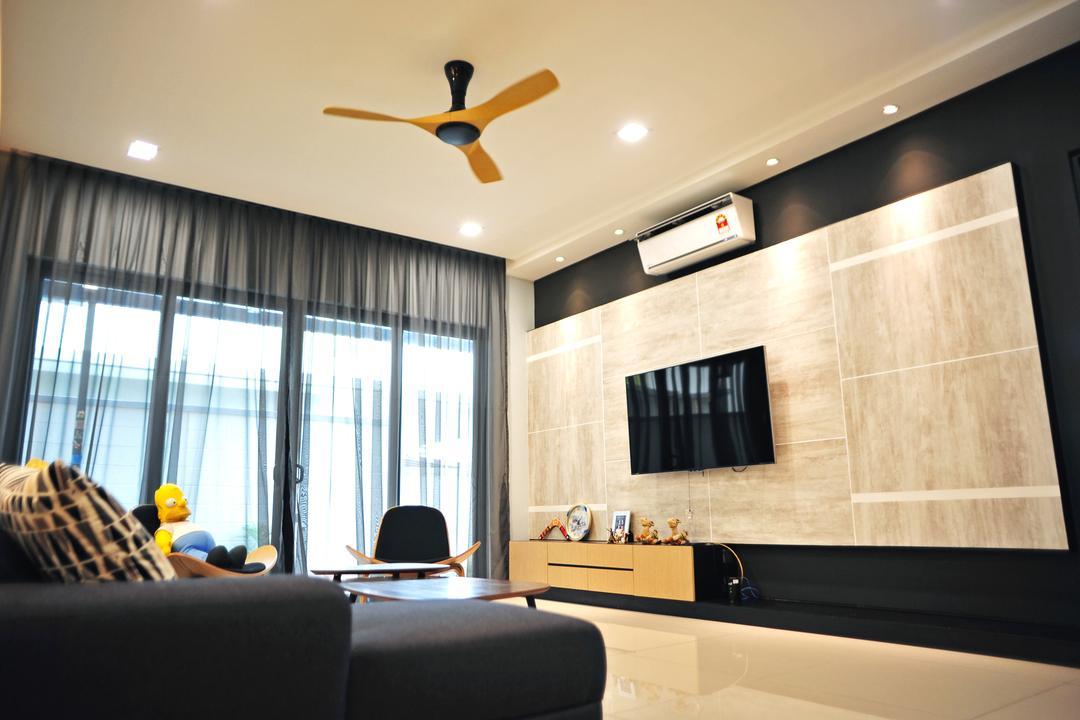 Saujana Duta, Seremban 2, Spazio Design Sdn Bhd, Modern, Contemporary, Living Room, Landed, Animal, Bird, Parakeet, Parrot, Indoors, Interior Design, Conference Room, Meeting Room, Room, Apartment, Building, Housing, Loft