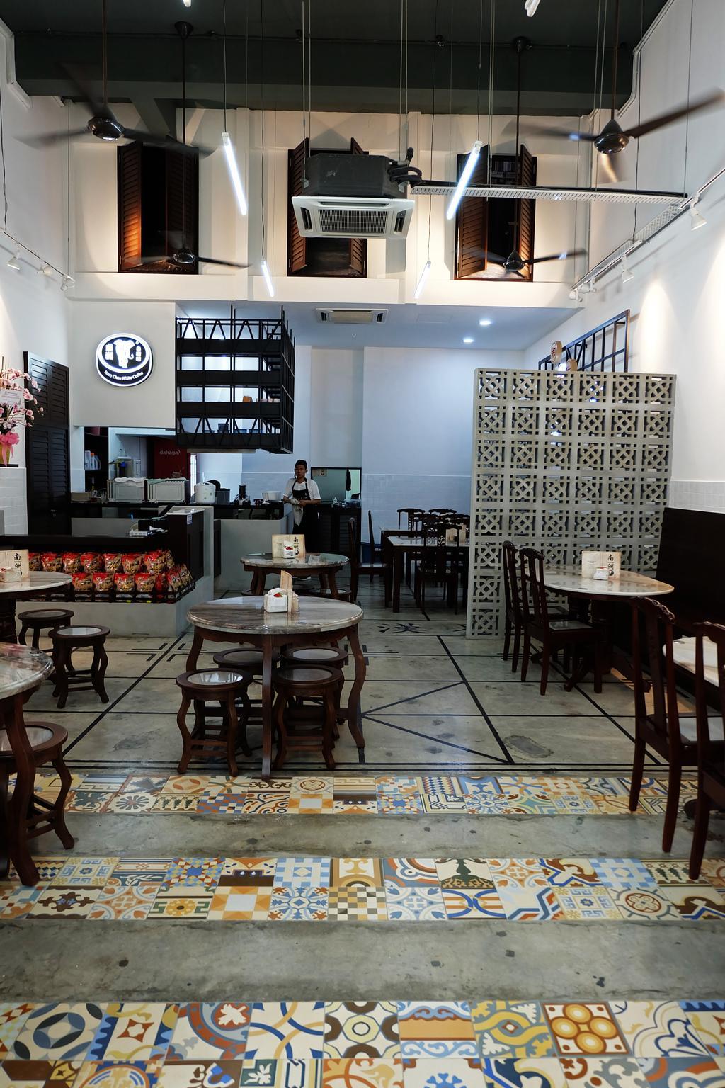 Nam Chau, Nexis Sunway Damansara, Commercial, Interior Designer, Spazio Design Sdn Bhd, Traditional, Dining Table, Furniture, Table, Chair, Cafe, Restaurant, Bench