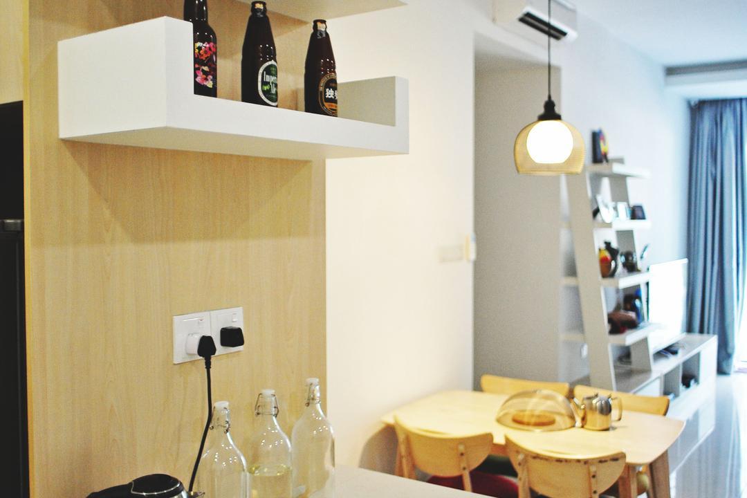 Zeva Residences, Seri Kembangan, Spazio Design Sdn Bhd, Contemporary, Condo, Sink, Dining Room, Indoors, Interior Design, Room, Bowl