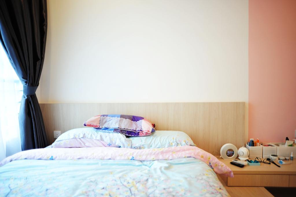 Contemporary, Condo, Zeva Residences, Seri Kembangan, Interior Designer, Spazio Design Sdn Bhd, Bed, Furniture, Bedroom, Indoors, Interior Design, Room