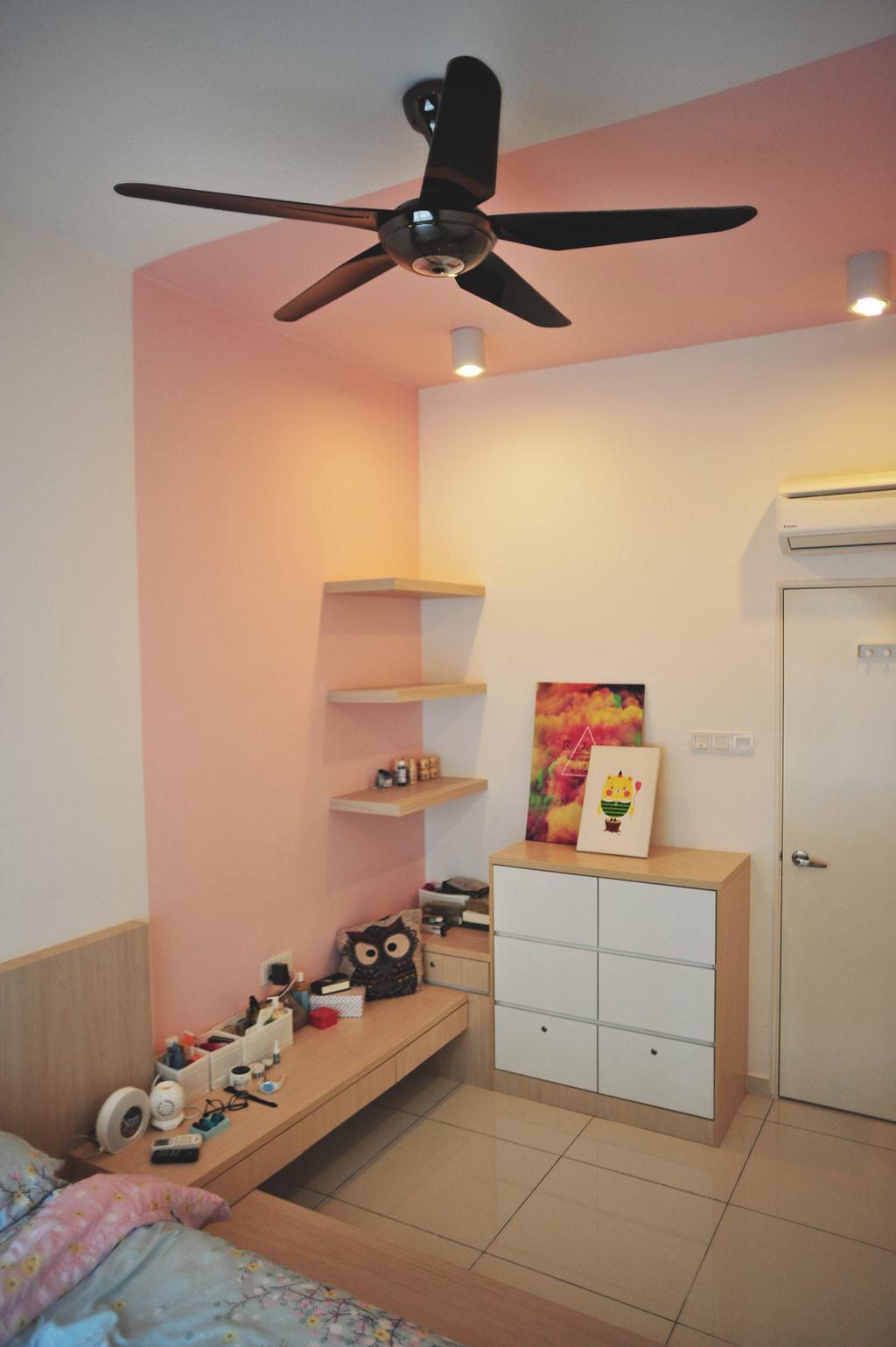 Contemporary, Condo, Zeva Residences, Seri Kembangan, Interior Designer, Spazio Design Sdn Bhd, Apartment, Building, Housing, Indoors, Shelf