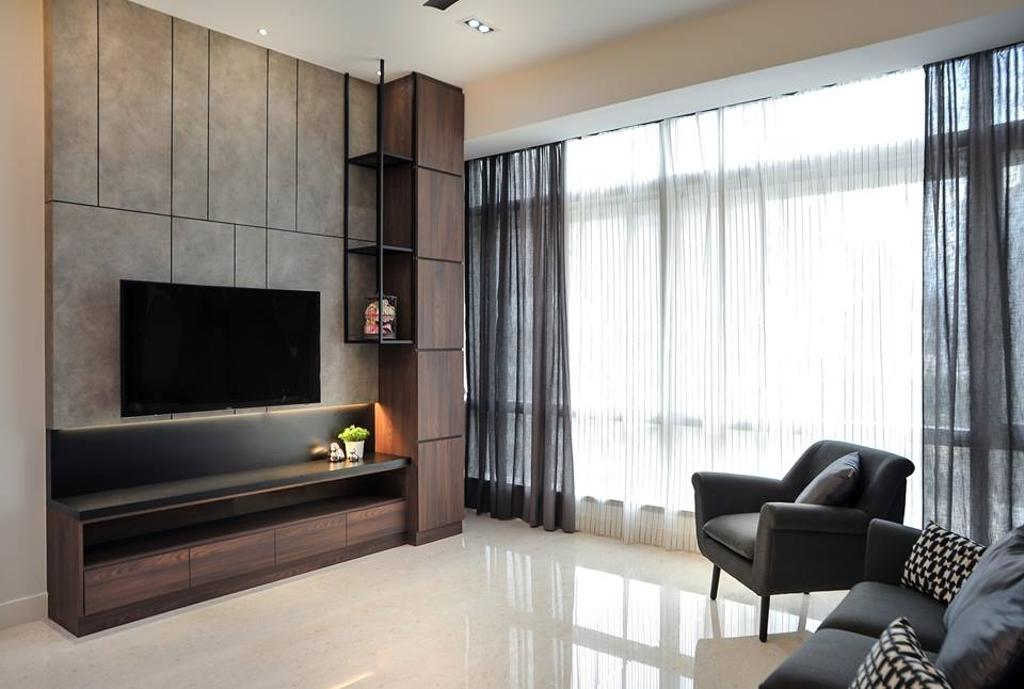 Contemporary, Condo, Living Room, Banyan Tree, Pavilion, Interior Designer, Spazio Design Sdn Bhd, Minimalistic, Carpet, Home Decor, Couch, Furniture, Indoors, Interior Design, Room
