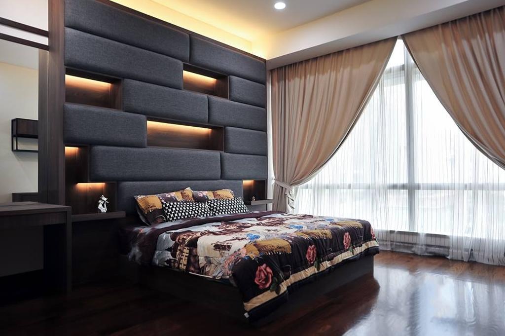 Contemporary, Condo, Bedroom, Banyan Tree, Pavilion, Interior Designer, Spazio Design Sdn Bhd, Minimalistic, Indoors, Interior Design, Room