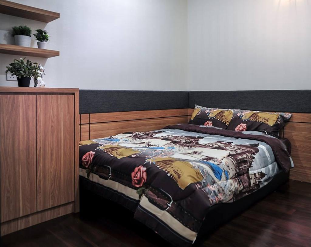 Contemporary, Condo, Bedroom, Banyan Tree, Pavilion, Interior Designer, Spazio Design Sdn Bhd, Minimalistic, Bed, Furniture, Indoors, Interior Design, Room
