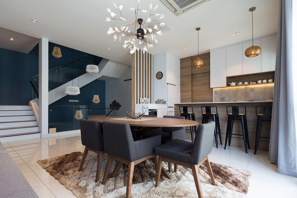 Modern, Condo, Dining Room, The Rise, Rawang, Interior Designer, Box Design Studio Sdn Bhd, Contemporary