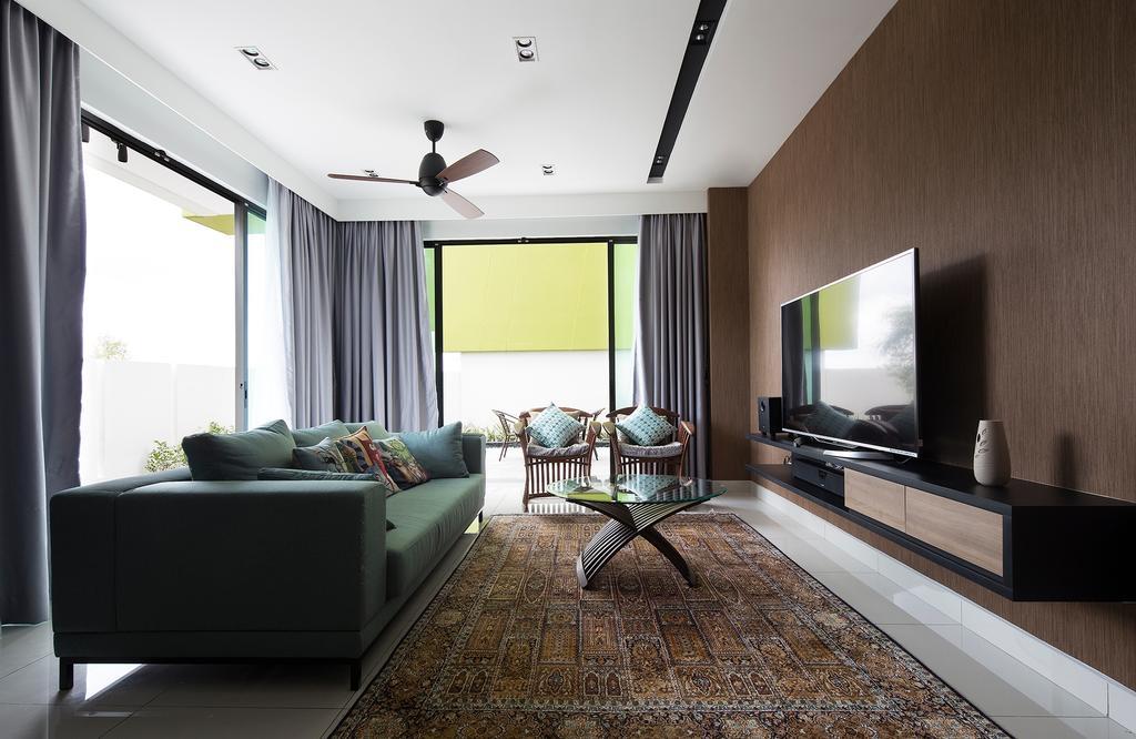Modern, Condo, Living Room, The Rise, Rawang, Interior Designer, Box Design Studio Sdn Bhd, Contemporary