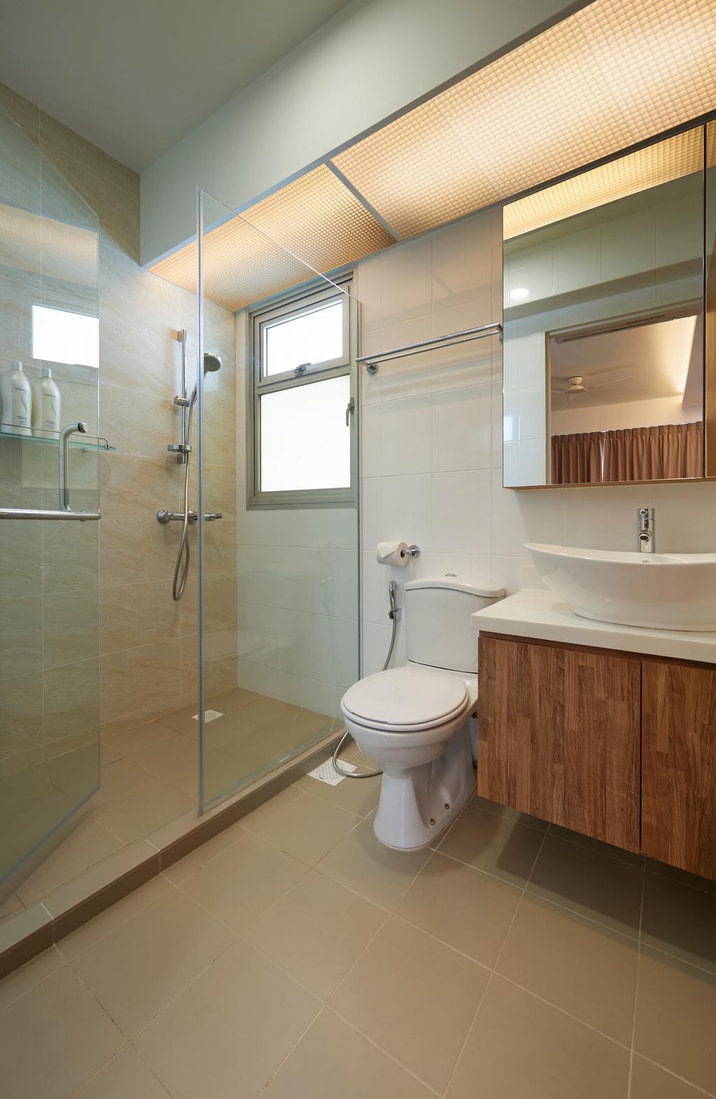 Scandinavian, HDB, Bathroom, Circuit Road, Interior Designer, Willis Design, Toilet, Indoors, Interior Design, Room, Molding