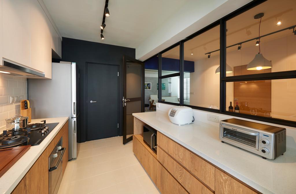 Scandinavian, HDB, Kitchen, Circuit Road, Interior Designer, Willis Design, Indoors, Interior Design, Room, Sink, Appliance, Electrical Device, Oven