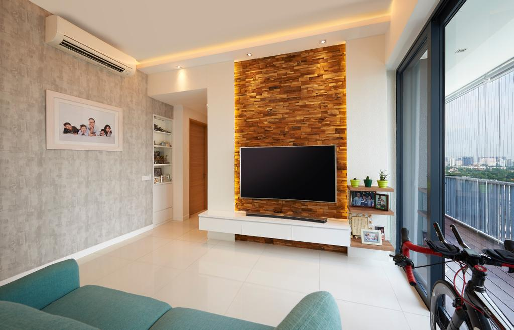 Modern, Condo, Living Room, Leedon Heights, Interior Designer, Willis Design, Indoors, Interior Design, Bicycle, Bike, Transportation, Vehicle, Electronics, Entertainment Center, Room