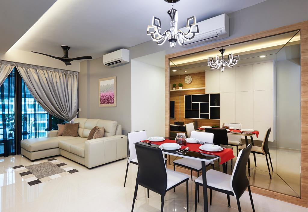 Contemporary, Condo, Dining Room, Ripple Bay, Interior Designer, Willis Design, Dining Table, Furniture, Table, Chair, Indoors, Interior Design, Room