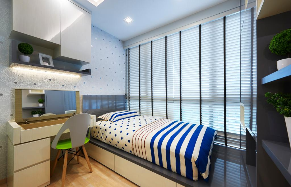 Contemporary, Condo, Bedroom, Ripple Bay, Interior Designer, Willis Design, HDB, Building, Housing, Indoors, Loft, Chair, Furniture, Interior Design, Room