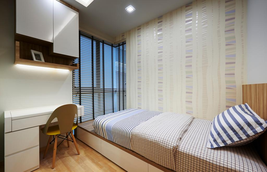Contemporary, Condo, Bedroom, Ripple Bay, Interior Designer, Willis Design, Chair, Furniture