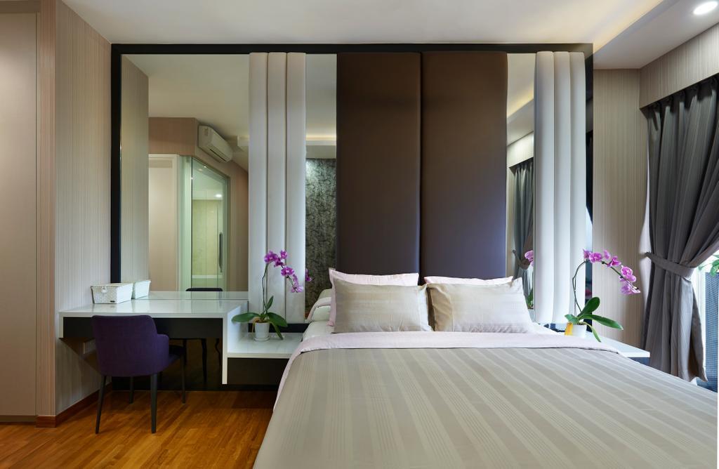 Modern, Condo, Bedroom, Sky Habitat, Interior Designer, Willis Design, Indoors, Room, Interior Design, Dining Table, Furniture, Table