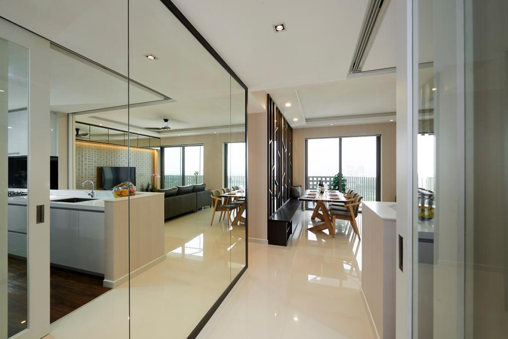 Modern, Condo, Living Room, Sky Habitat, Interior Designer, Willis Design, Dining Table, Furniture, Table, Dining Room, Indoors, Interior Design, Room